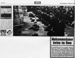Zeitungsauschnitt aus dem Kölner Express von 1965