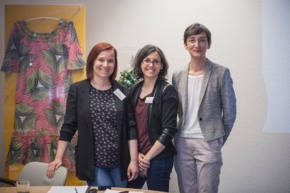 Team Virtuelles Migrationsmuseum_Bengü Kocatürk-Schuster, Sandra Vacca, Fatma Uzun (von links nach rechts)