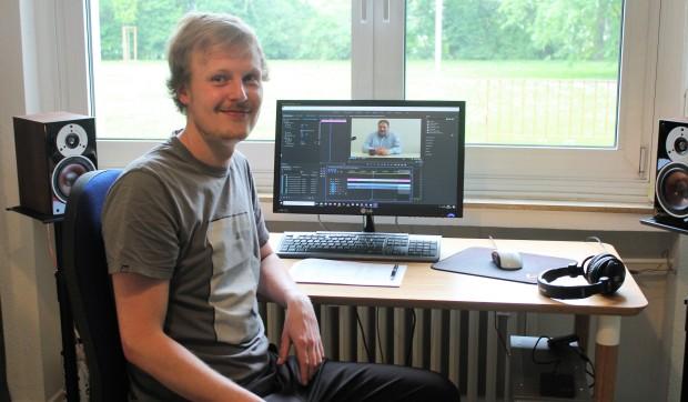 Niklas Frechen bei der Arbeit
